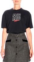 Miu Miu Short-sleeved T-shirt With Maxi Print