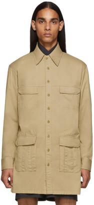 Random Identities Beige Saharienne Shirt Jacket