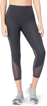 "Core Products Amazon Brand - Core 10 Women's Plus Size Race Day High Waist Run Mesh 7/8 Crop Legging - 24"""