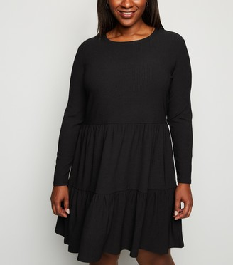 New Look Curves Tiered Mini Smock Dress