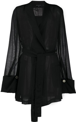 Ann Demeulemeester Belted Tunic Top