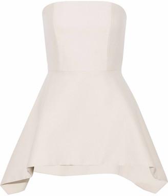 Alice + Olivia Flared Wool-blend Mini Dress