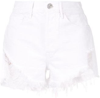 3x1 Distressed High-Rise Shorts