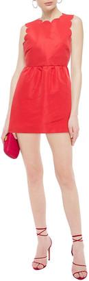 RED Valentino Taffeta Peplum Mini Dress