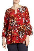 Lafayette 148 New York, Plus Size Sela Silk Bell Sleeve Blouse