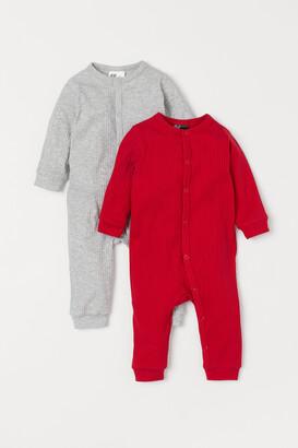 H&M 2-pack Ribbed Pajamas