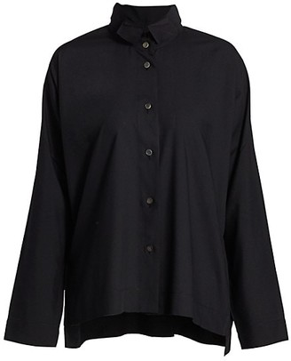 Issey Miyake Tuxedo Collared Shirt