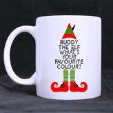 Xmas Mug Funny Christmas Mug - Hipster Christmas Buddy The Elf Whats Your Favorite Colour Coffee Mug or Tea Cup -s