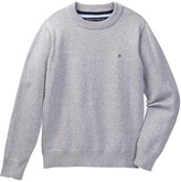 Tommy Hilfiger Long Sleeve Crew Neck Sweater (Big Boys)