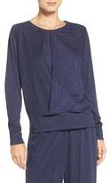 Daniel Buchler Women's Metallic Pullover