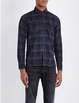 Replay Check-print slim-fit shirt
