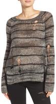 Pam & Gela Stripe Back Split Sweater