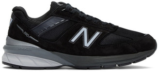 New Balance Black and Silver Made In US 990 v5 Sneakers
