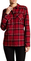 BCBGeneration Plaid Spread Collar Shirt