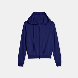 Theory Zip Hoodie in Cashmere