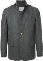 Sacai embellished band collar jacket