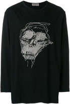 Yohji Yamamoto scribble print long-sleeved T-shirt