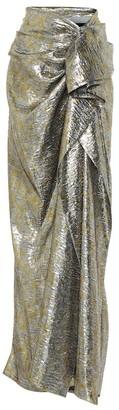 Dries Van Noten Silk-blend brocade maxi skirt