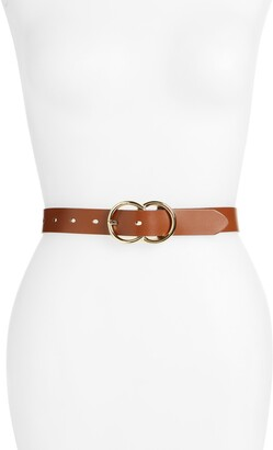 Halogen Double Ring Leather Belt