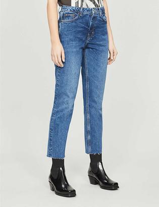 Topshop Straight-leg high-waisted jeans