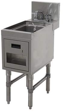 "Advance Tabco Prestige Series Free Standing Handwash Station with Faucet Advance Tabco Size: 36"" H x 18"" L x 25"" W"