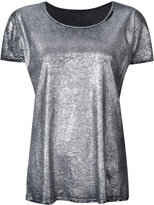 RtA metallic T-shirt - women - Cotton/Cashmere - XS
