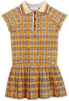 Burberry Scribble Check Collared Day Dress