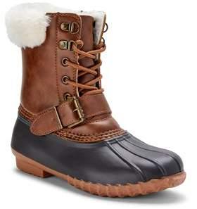 Portland Boot Company Faux Fur Cuff Duck Boot (Women's)