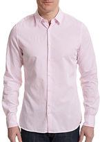 J. Lindeberg Washed Dobby Weave Dress Shirt