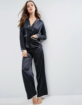 Asos Christy Satin Long Leg Pajama Set