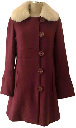 Marc Jacobs Burgundy Wool Coat for Women