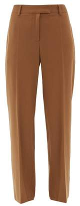 A.P.C. Cece High-rise Twill Straight-leg Trousers - Womens - Camel