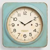 Aqua Metal Square Wall Clock