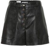 Stella McCartney Faux leather high-rise shorts