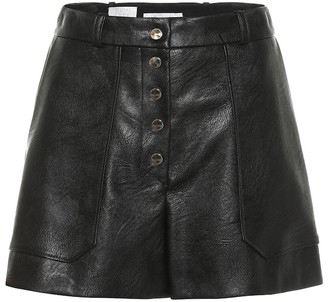 Stella McCartney Faux leather high-rise shorts