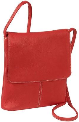 Le Donne Leather Small Flap-Over Shoulder Bag