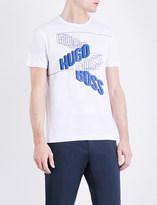 BOSS GREEN Logo-print cotton-jersey T-shirt