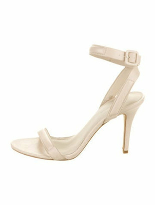 Alexander Wang Embossed Leather Ankle-Strap Sandals Champagne