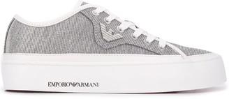 Emporio Armani Glitter Effect Sneakers