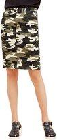 Meters/bonwe Women's Fashion Printed Bodycon Pencil Skirt, M