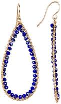 Natasha Accessories Beaded Teardrop Earrings