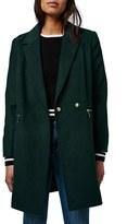 Topshop Women's 'Meg' Zip Pocket Coat