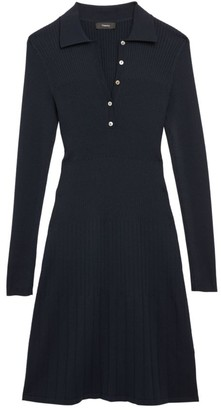 Theory Rib-Knit Polo Dress