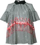 Giamba flamingo print blouse