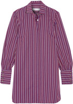 Caroline Constas Boyfriend Cotton-jacquard Shirt Dress - Purple