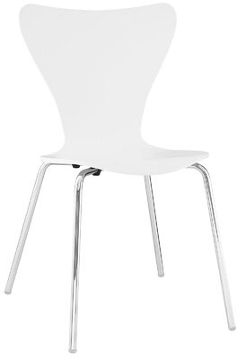 Mercury Row Chaparro Stacking Side Chair Color: White