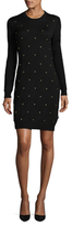 Love Moschino Studded Wool Sweater Dress