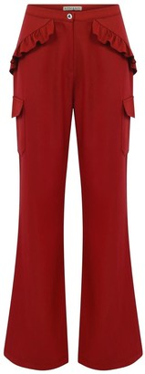Kith & Kin Red Side Frills & Pockets Pant