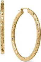 Macy's Diamond-Cut Hoop Earrings in 14k Gold