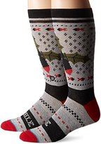 Stance Men's Missle Toe Holiday Pattern Arch Support Crew Sock